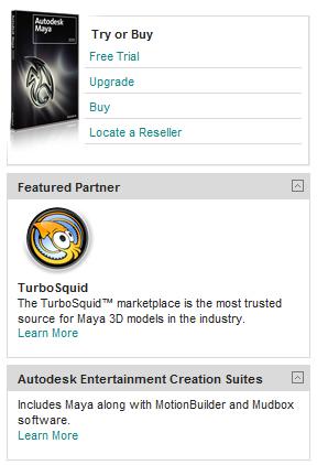 Autodesk Maya product page