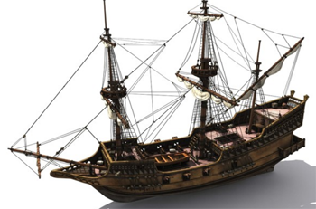 Spanish galleon 3 - 3 7