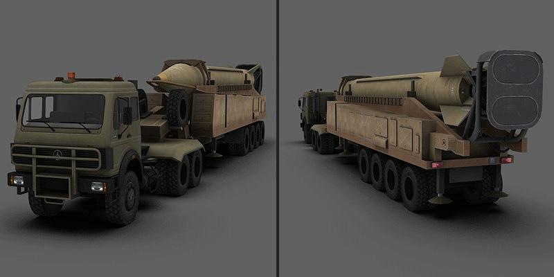 Shahab-3 Ballistic Missile 3D Model