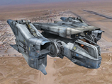 Sci Fi Starfighter 3D Model