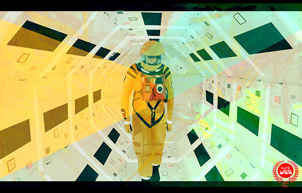 Illustrated Tribute to 2001: A Space Odyssey by Kate Voisin