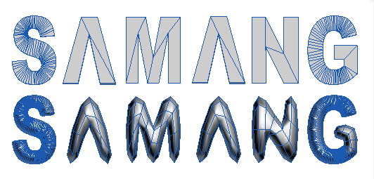 3D text created with automated tools is hard to edit, has unnecessary detail, and does not subdivide well.