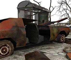 758887-Debris-Render-Car