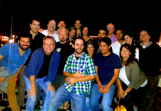 The CheckMate Advisory Board and some of the TurboSquid staff gather for a New Orleans dinner, 2013.