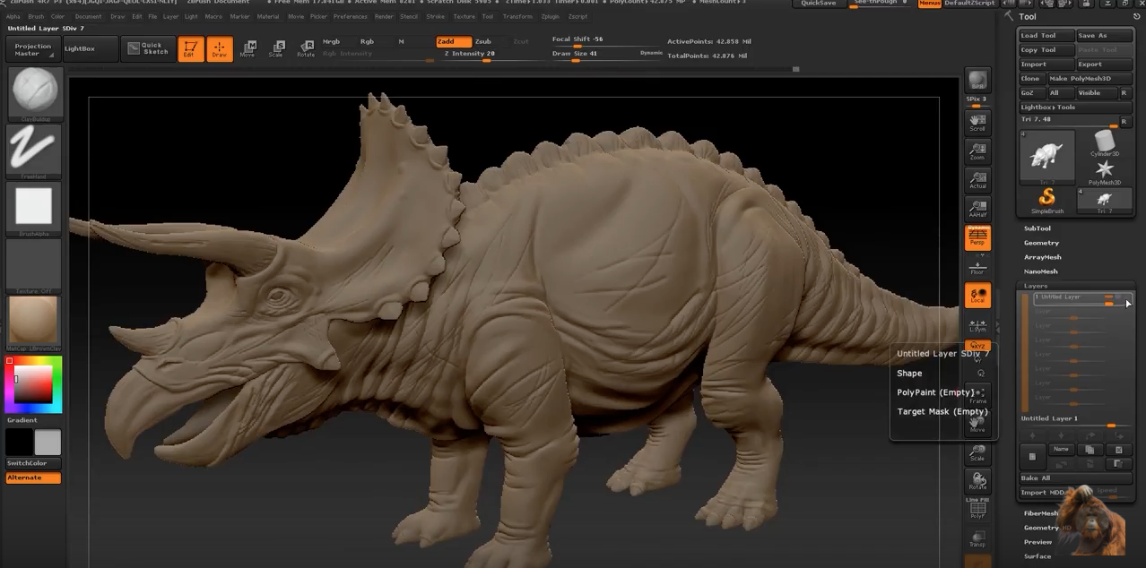 zBrush demo by RaveeCG