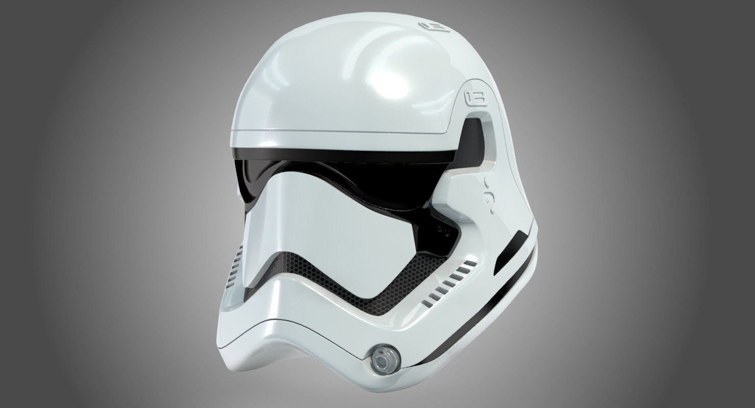 Stormtrooper New Order Helmet 3d model by Alzarac