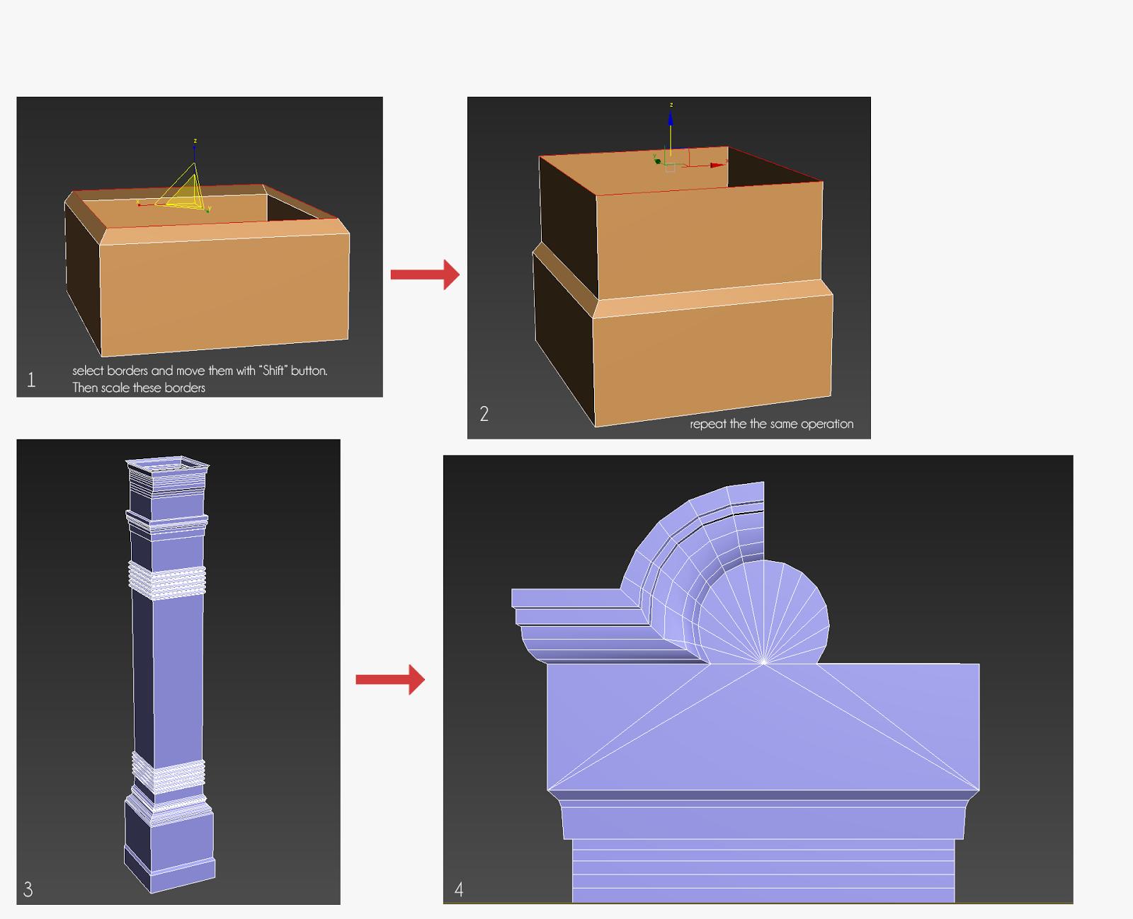 Modeling pillars