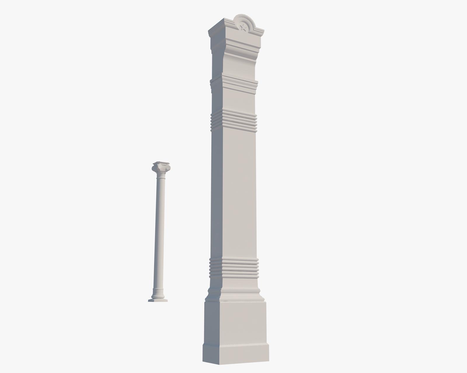 Pillar and column