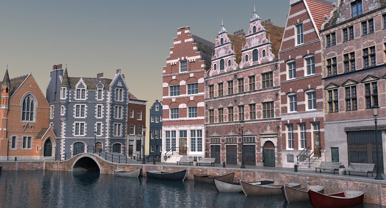3D Amsterdam Scene 03 model by 3DMarko