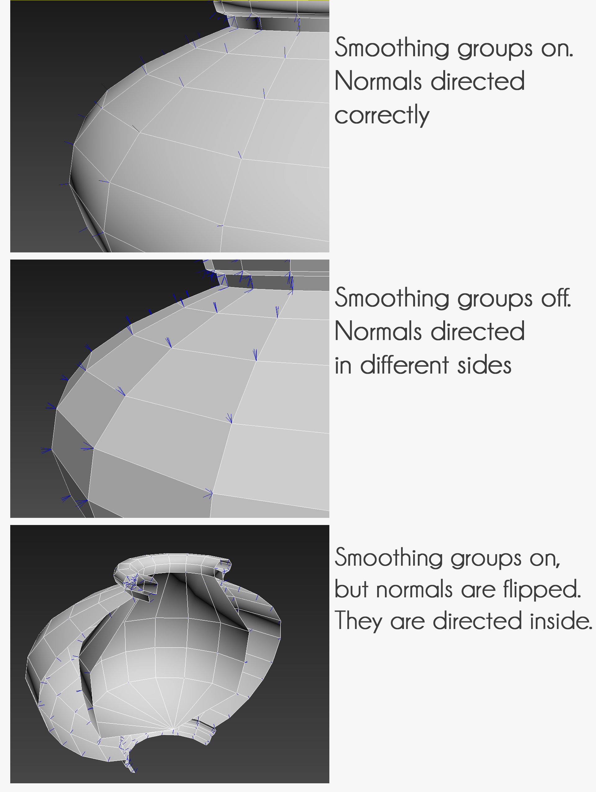 Flipped normals