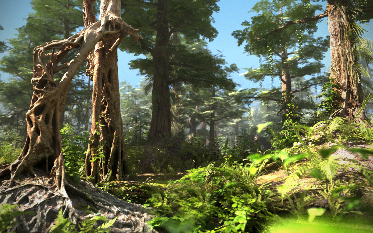 Sequoia Forest HD 3D model by Asset Scan 3d