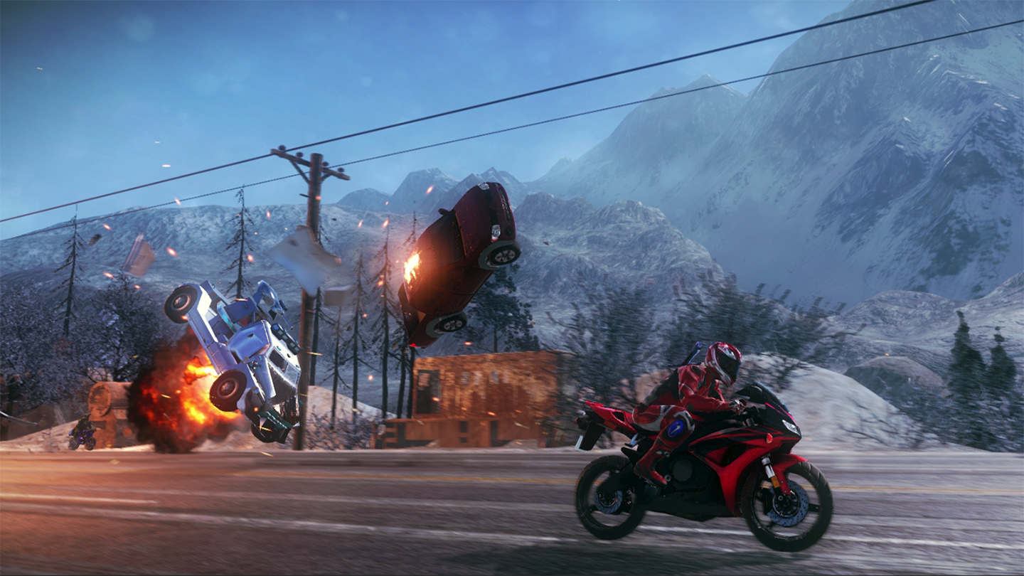 Vehicle explosion in Road Redemption