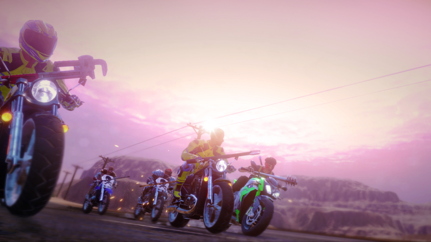 Bikers from Road Redemption