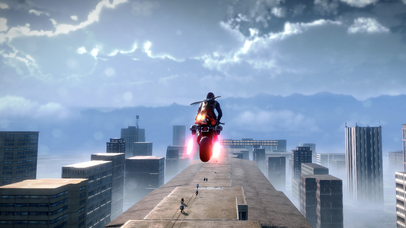 Rooftop riding in Road Redemption