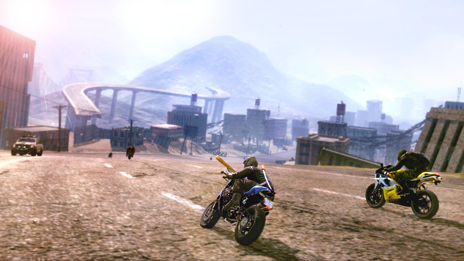 Post apocalyptic scene from Road Redemption