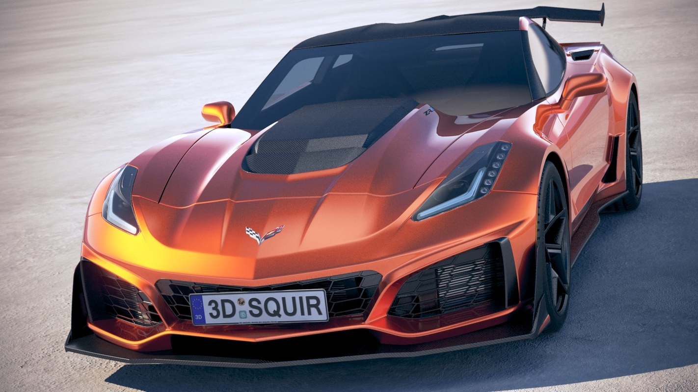3D Chevrolet Corvette ZR1 2019 model by squir