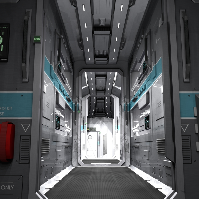 3D Interior of a Small Starship by psicore