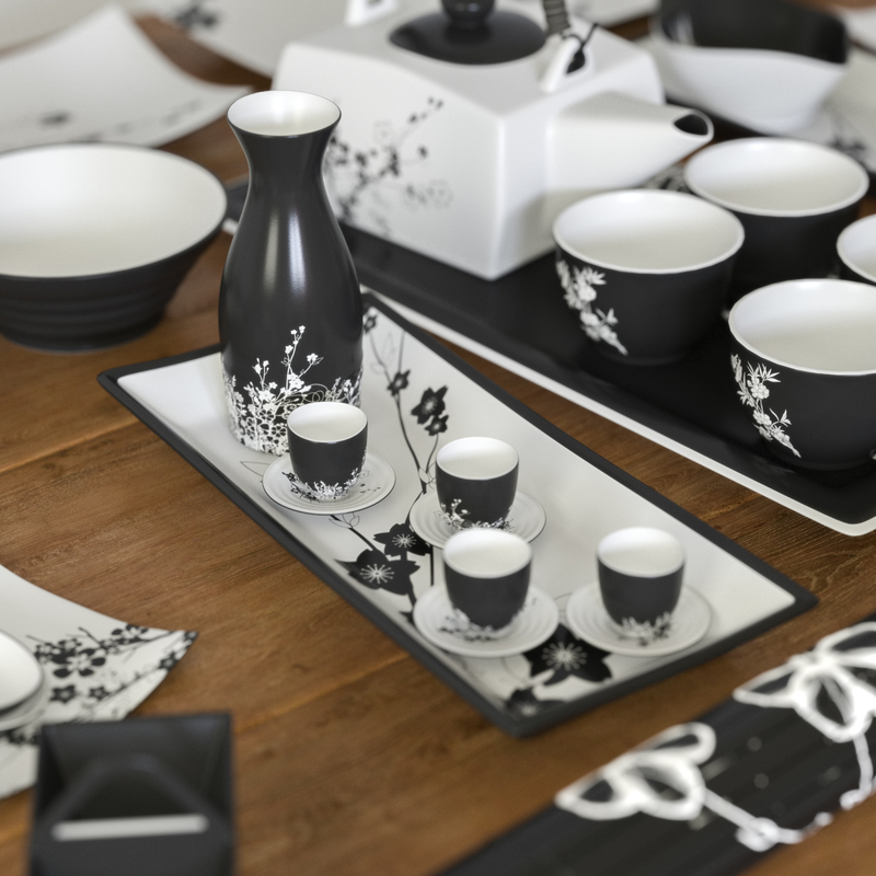 A set of dishes in the Japanese style model by Foka1990