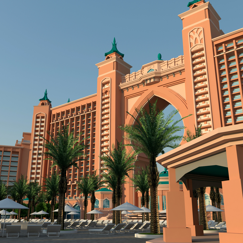 Atlantis Palm Dubai 3D by junmedina