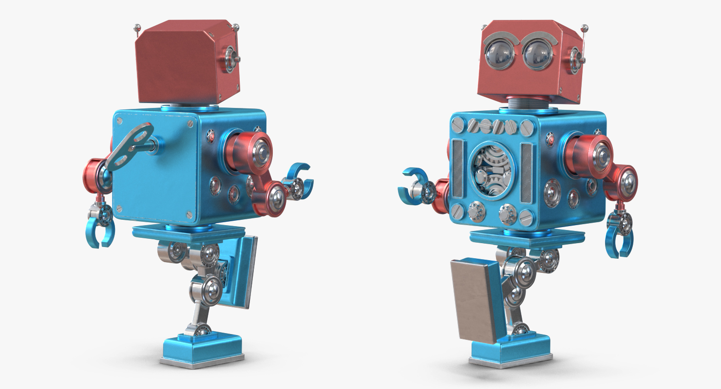 3D model Retro Robot Toy by 3d_molier International
