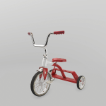 Tricycle rendered in Marmoset