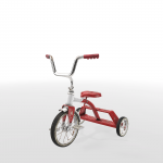 Tricycle model rendered in Unity