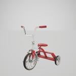 Tricycle model rendered in Unreal