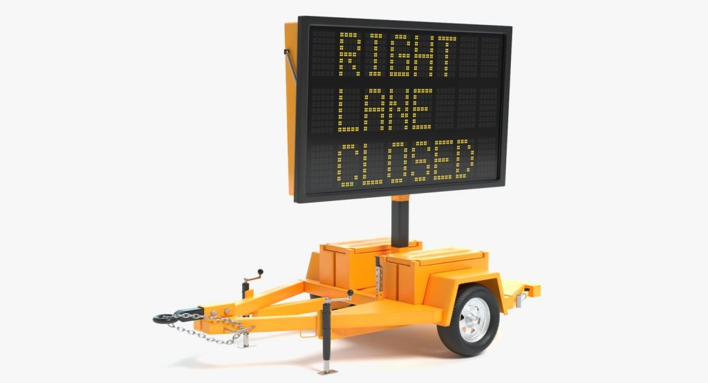 Electronic Traffic Sign 3D model by abramsdesign