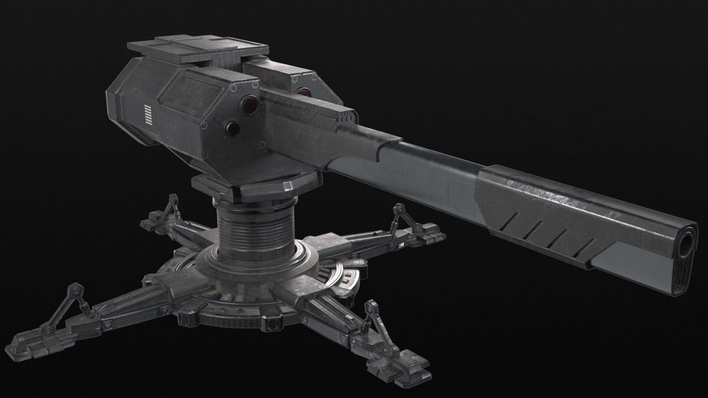 Sci-fi Turret 3D model by Aicrovision