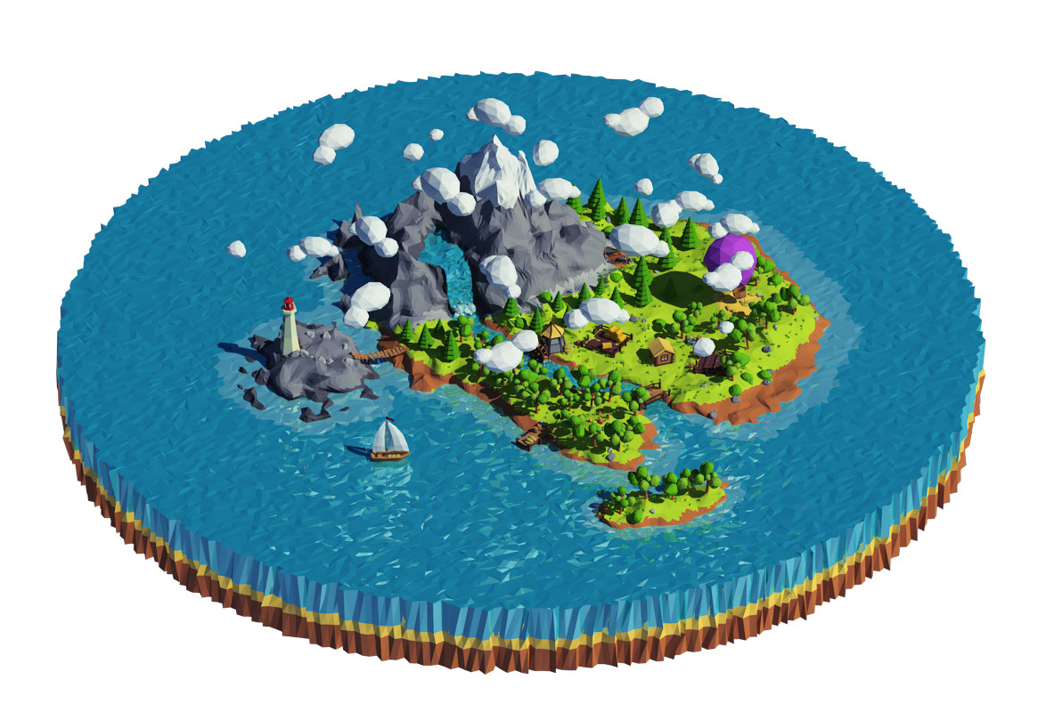 Vilitay's Cartoon island low poly