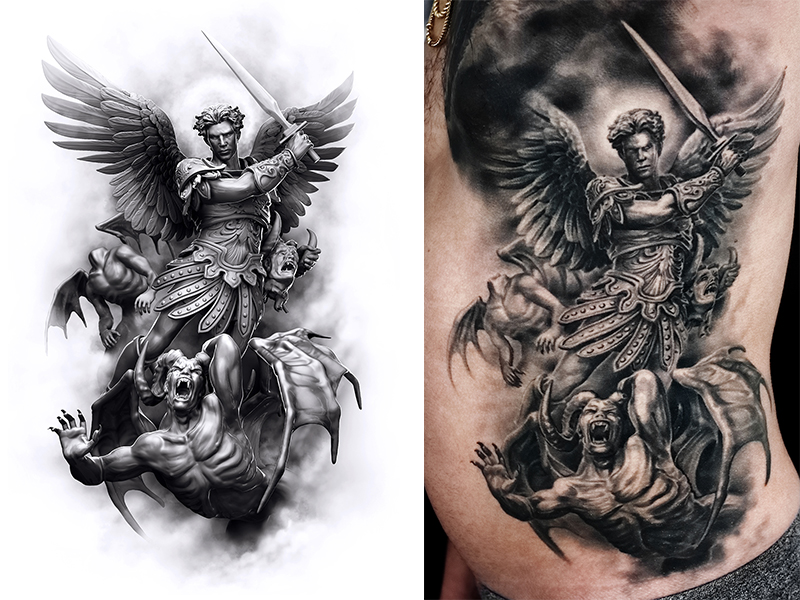 Arch Angel by Tattooed Theory's Javier Antunez