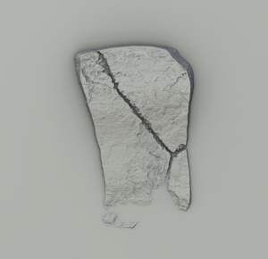 Rock created in Substance Designer, variant 2.