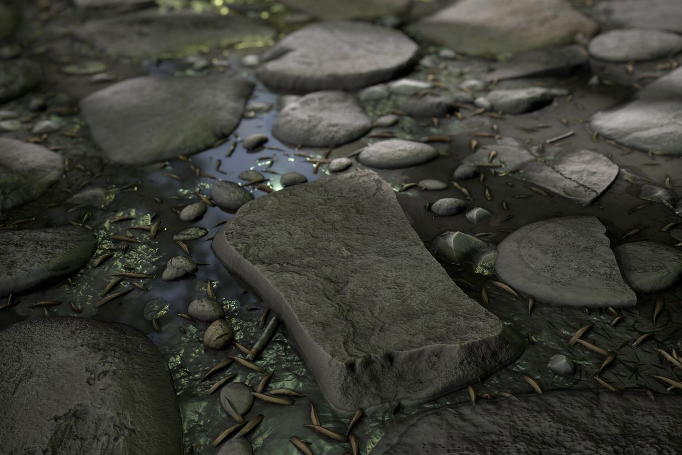 How to build the rock in the foreground in Substance Designer
