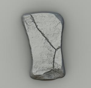 Rock created in Substance Designer, variant 1.
