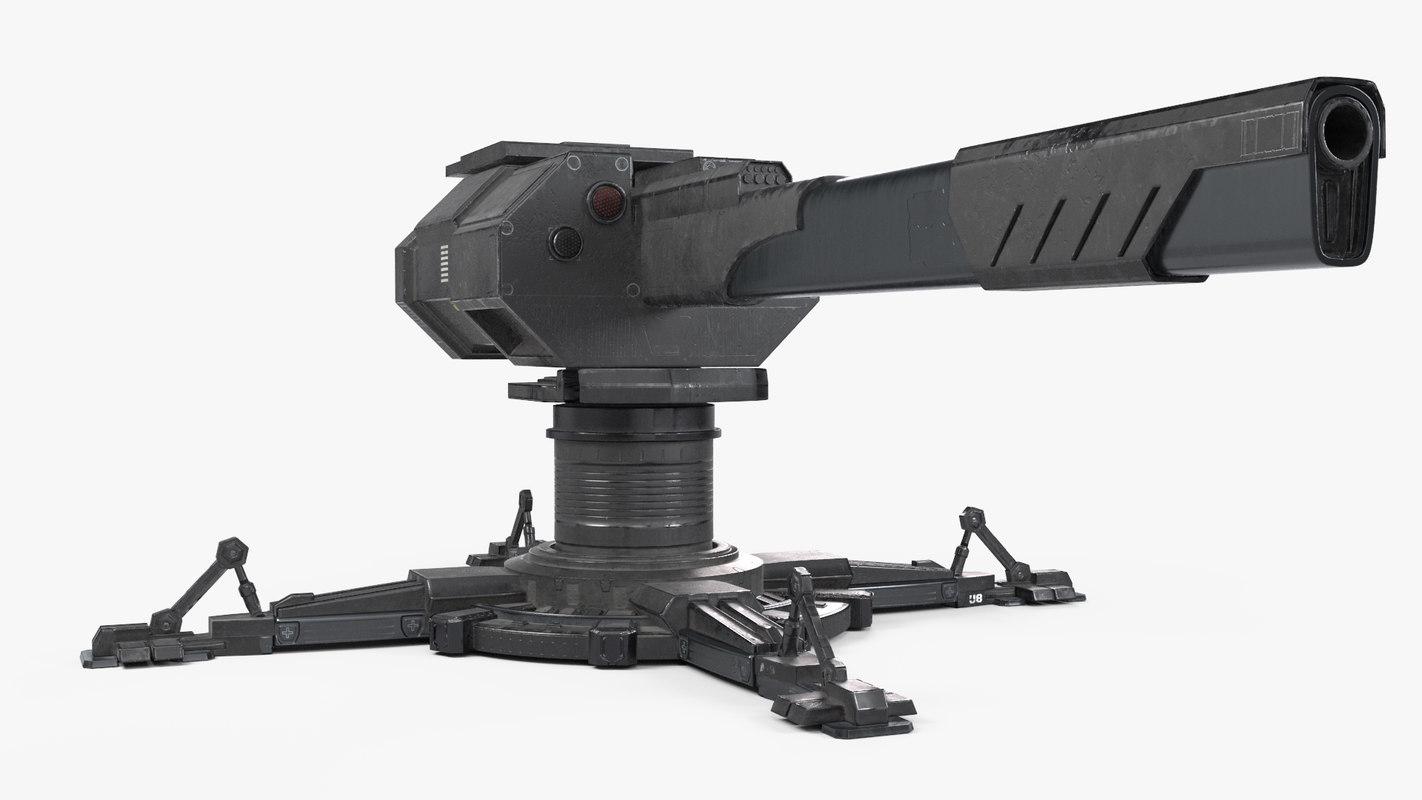 Turret 3D Model - PBR