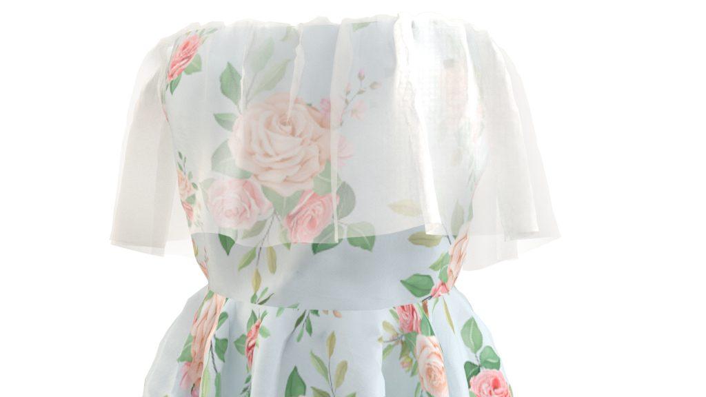 Dress 3D Model by Maya1992