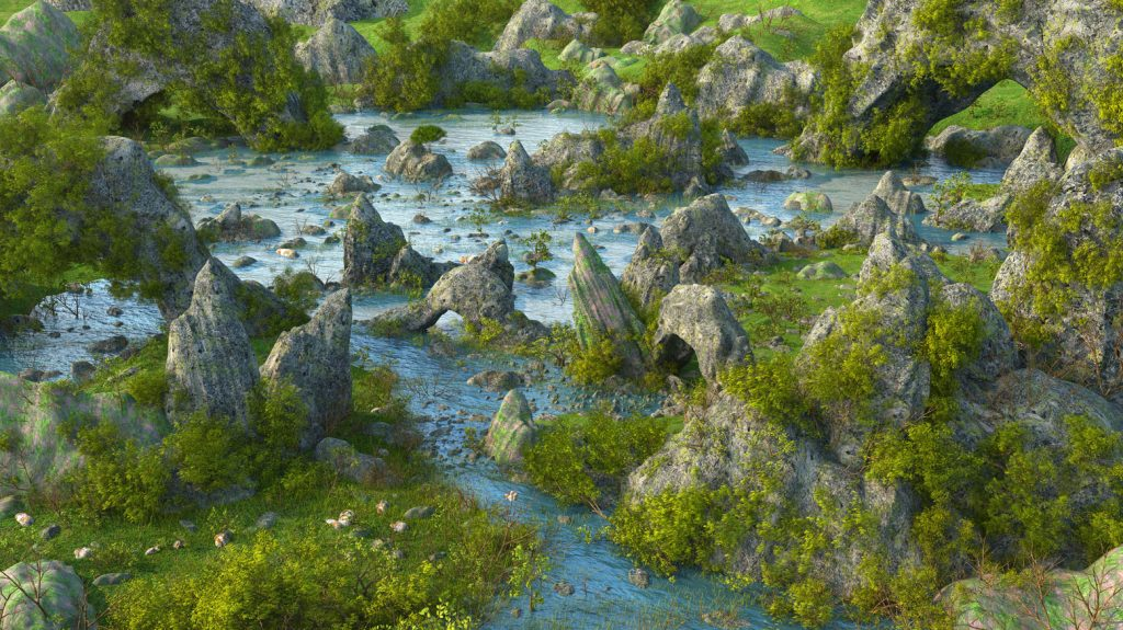 Fantasy Lake 3D Model by Marc Mons