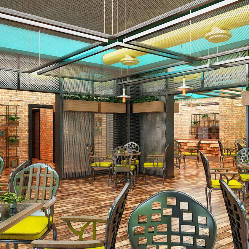 Cafe Interior 3D Model by Semsa